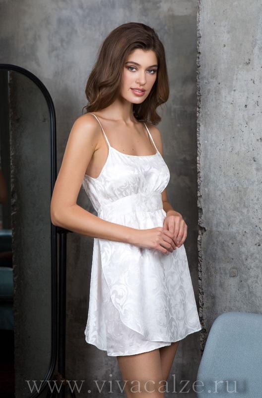 d3df5c412a35 Сорочка Mia-Mia полуприлегающего силуэта из жакк. 15154 Сорочка